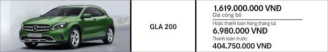 Giá xe Mercedes GLA 200 2018 tại Mercedes Trường Chinh