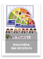 Trouble du spectre de l'autisme - Roue des émotions - Baromètre des émotions