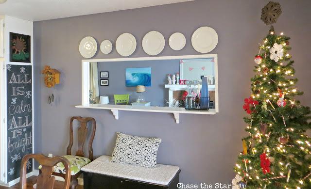 Christmas, holiday, decor, simple, blogger house, kitchen, chalkboard, christmas tree