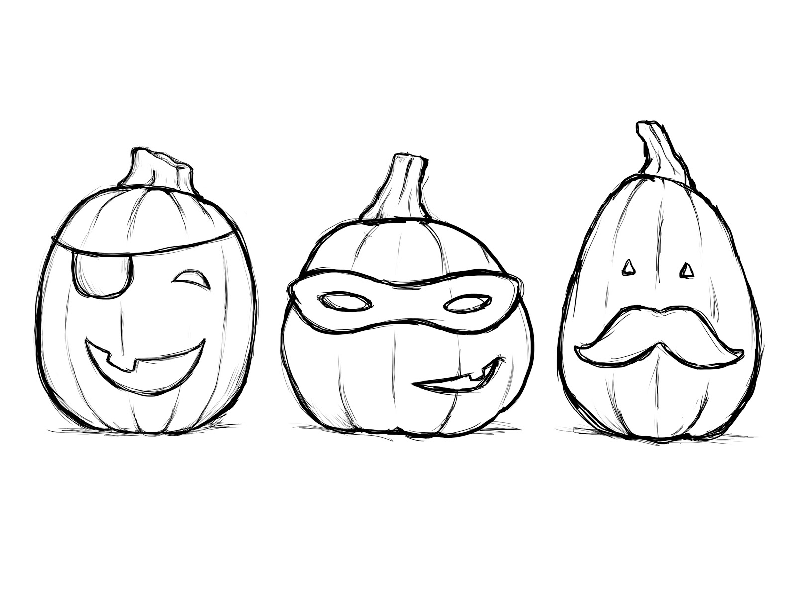 halloween pictures to color and draw