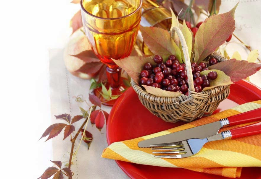 rowan-berries-basket-forks-wine-picture