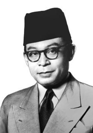 Foto Drs. Moh. Hatta hitam putih