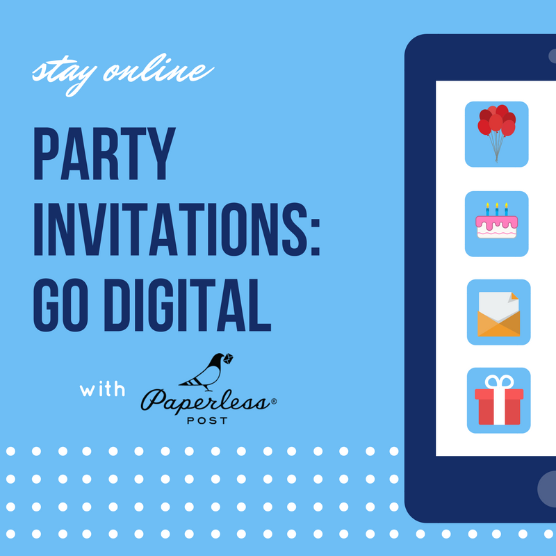 Party invitations: go digital with Paperless Post |Keeping it Real