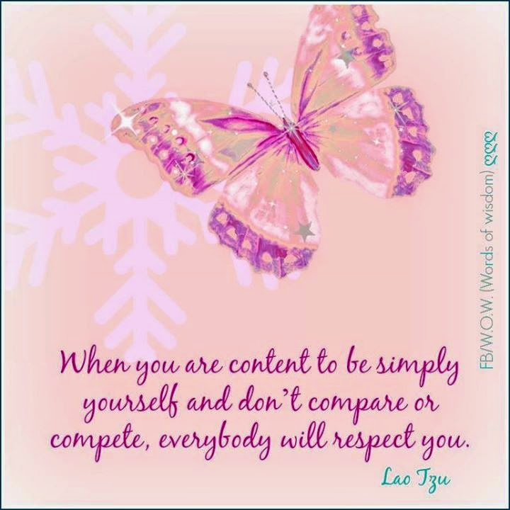 When You Are Content To Be Simple Yourself And Dont Compare Or