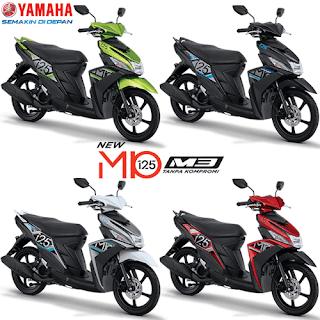 Pilihan Warna Yamaha Mio M3 125 Blue Core