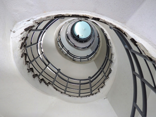 Spiral staircase inside Yeongdo Lighthouse, Taejongdae Park, Busan, South Korea