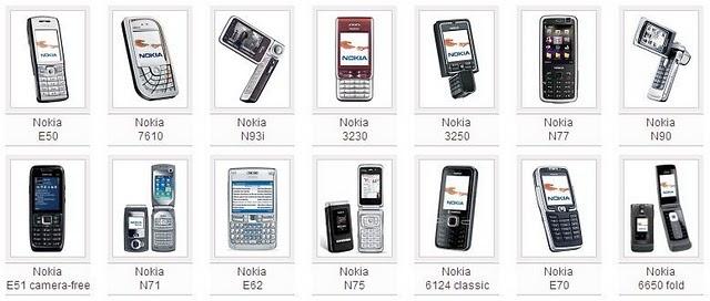 mobile modif: Symbian phone list