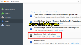 Cara mematikan shockwave flash di semua browser