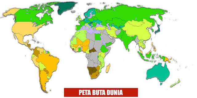 Gambar Peta Buta Dunia Berwarna