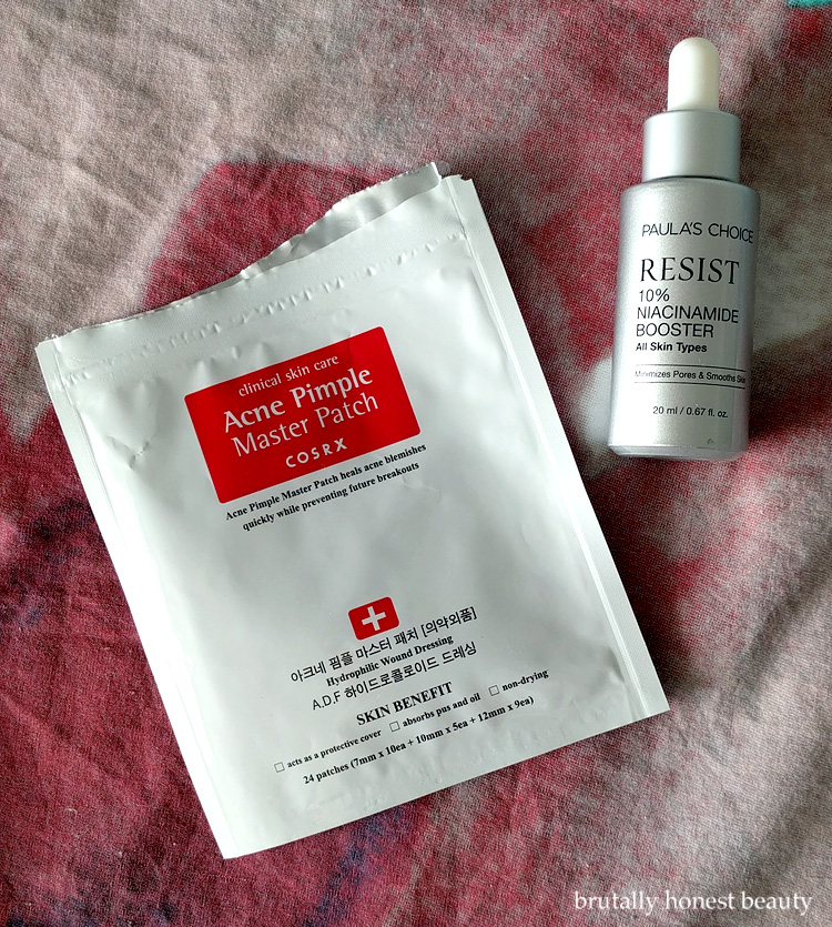 CosRx Acne Pimple Master Patches, Paula's Choice 10% Niacinamide Booster,