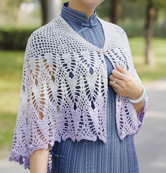 Crochet lace cape