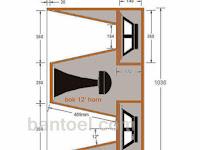Skema Box speaker 12'' Lapangan Planar  Super Jauh