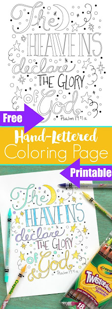 Handlettered Bible Verse Coloring Sheet Printabledownload This And More  Free Bible