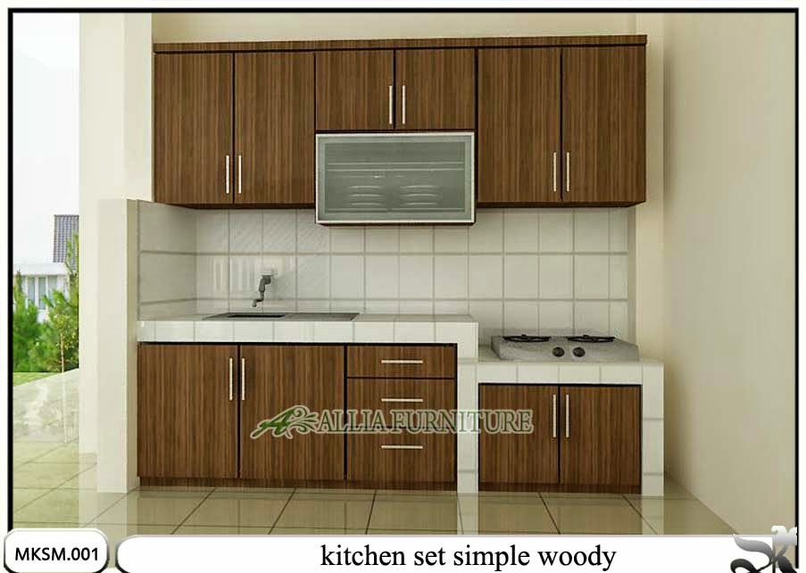 kitchen set minimalis simple model woody