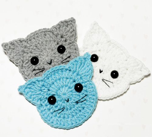 Crochet Cats Applique - Free Pattern