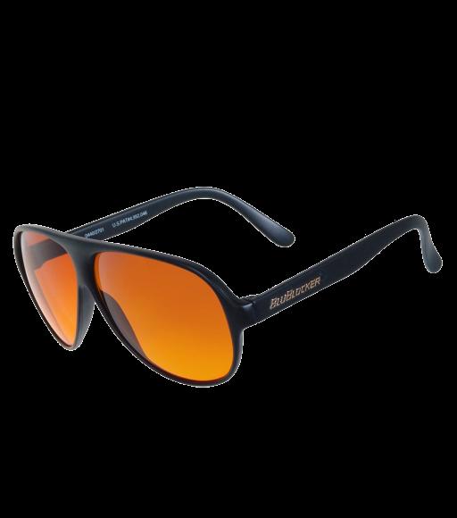 Óculos preto de aviador blublocker originais - 2701K
