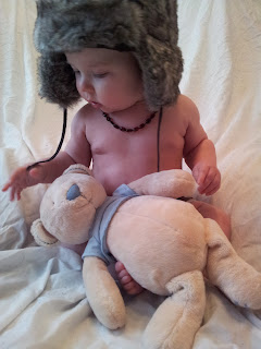 teddy bear, funky hat, 6 month old baby, photoshoot