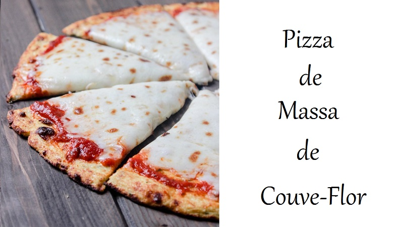pizza low carb, pizza de massa de couve flor