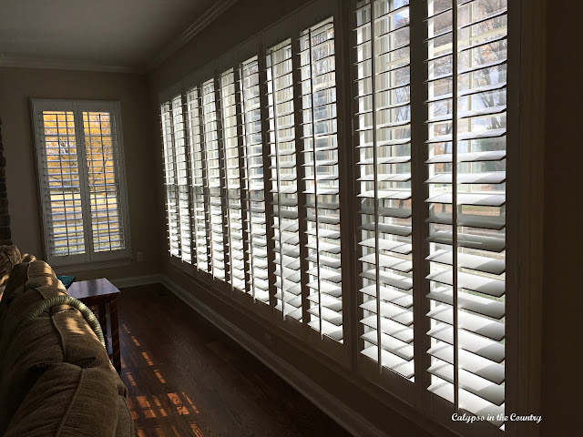 Before and After Plantation Shutters - One of My Favorites of 2016