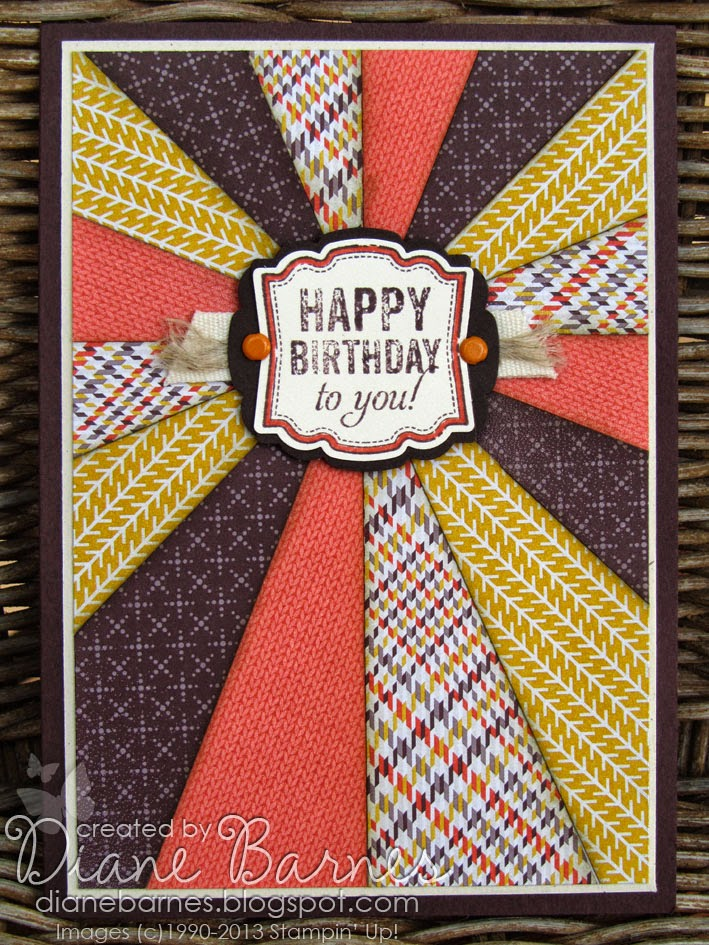 Colour Me Happy Sunburst Birthday Card For Guys Instructions