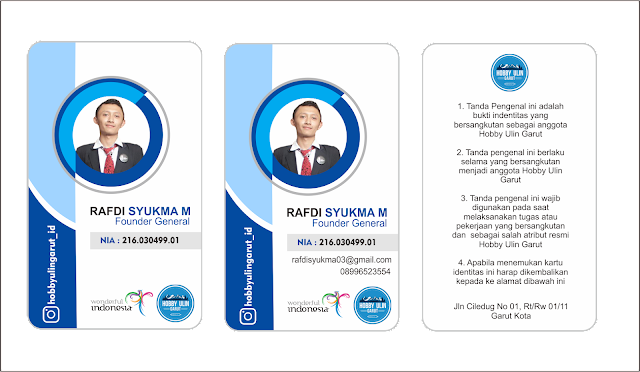Download Desain Id Card Pegawai Keren Format Coredraw X7 Free