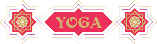Yoga Word animated vector scale graphics