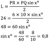 Contoh Soal Trigonometri Luas Segitiga Dan Segibanyak Beraturan