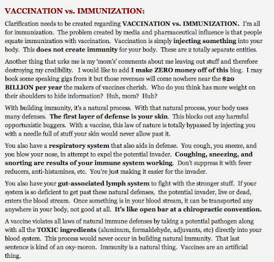 """My Crystal Clear Stance on Vaccination"" #1: Vaccination Is Not Immunization"