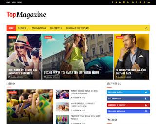 Top Magazine news blogger template 2017