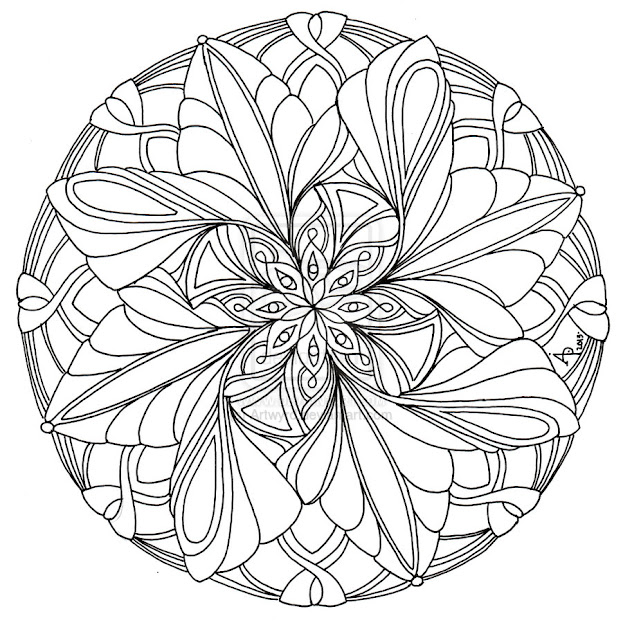 Coloring For Adults  Kleuren Voor Volwassenen  Coloring Pages  Mandalacolouring