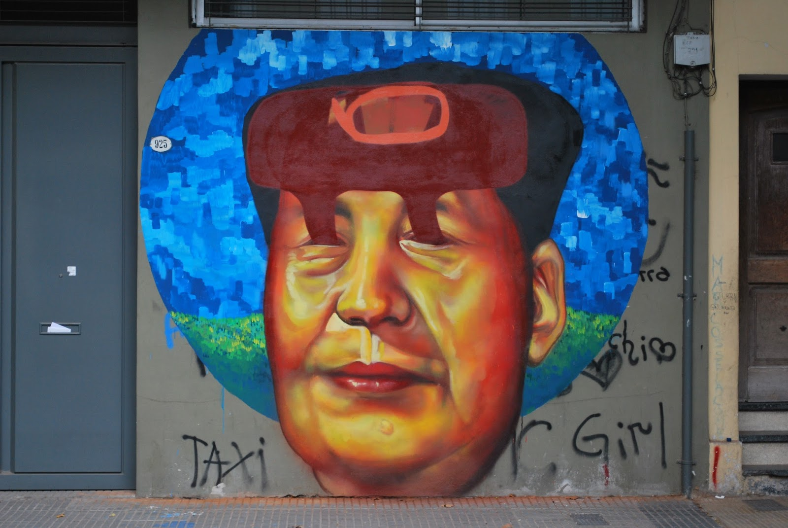 Grafite do antigo ditador da República Popular da China, Mao Tsé Tung