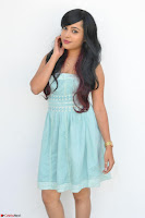Sahana New cute Telugu Actress in Sky Blue Small Sleeveless Dress ~  Exclusive Galleries 005.jpg