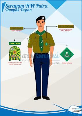 seragam hizbul wathan depan