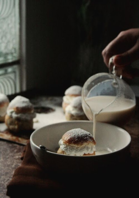 Swedish Almond-Cream Filled Cardamom Buns