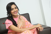 Actress Ritu Varma Pos in Beautiful Pink Anarkali Dress at at Keshava Movie Interview .COM 0334.JPG