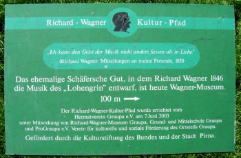 Richard-Wagner-Kulturpfad in Graupa