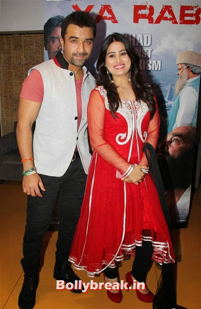 Ajaz Khan and Arjumann Mughal, Ajaz Khan and Arjumann Mughal at 'Ya Rab' Movie Special Screening