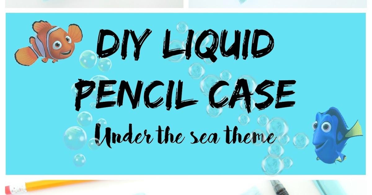 LIQUID GLITTER WATERFALL PENCIL CASE
