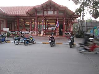 Hua Hin Thailand Bahnhof Gebäude