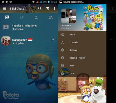 BBM MOD Pororo V3.0.0.18 APK Terbaru 2016