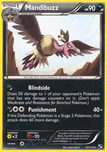 Pokemon Card Of The Day Mandibuzz Black And White