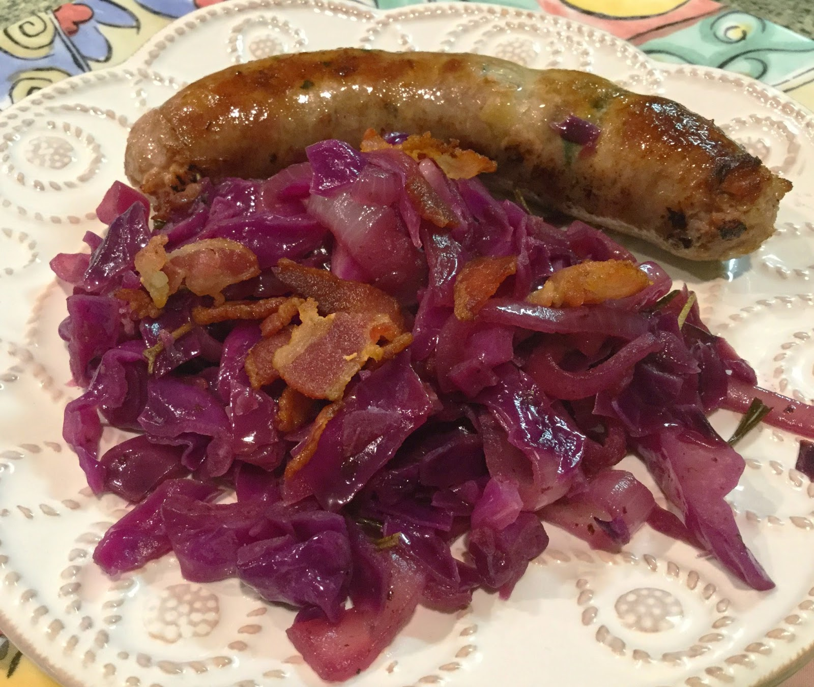 Diabetics Rejoice!: Sautéed Red Cabbage with Bacon and Onions