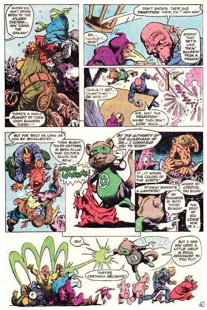 Green Lantern v2 #181 dc comic book page art by Don Newton
