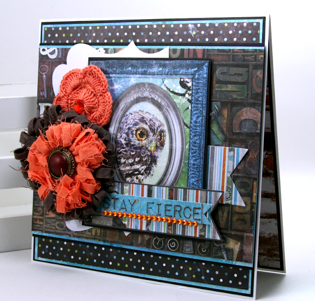Stay Fierce Greeting Card by Ginny Nemchak for BoBunny using Life In Color Collection