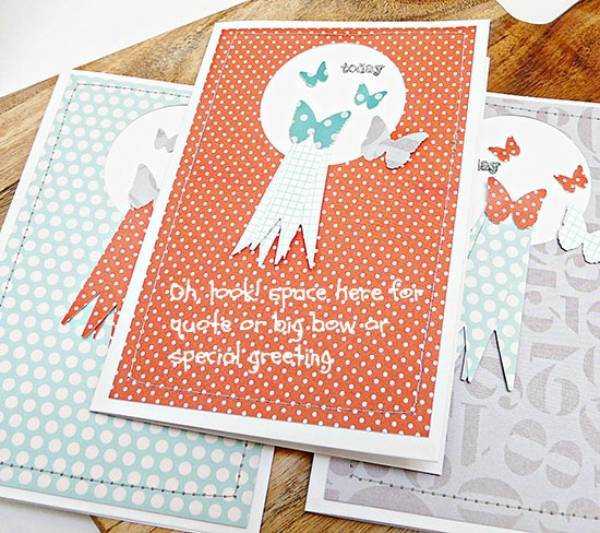 blank canvas cards by Sian from From High in the Sky