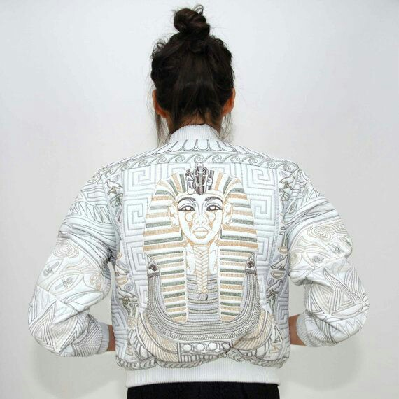 Egyptian leather bomber