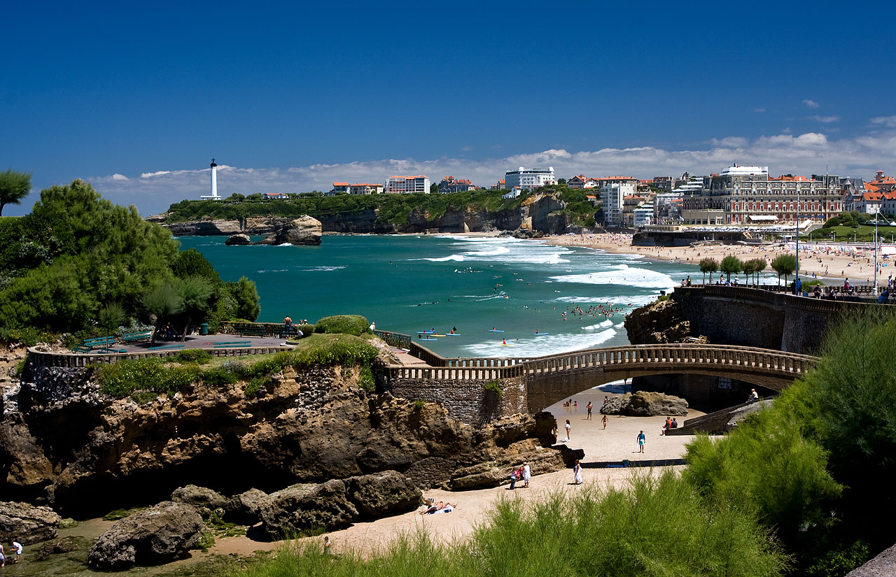 places most france biarritz wallpapers hd town beach basque aquitaine cool frankrike plages south