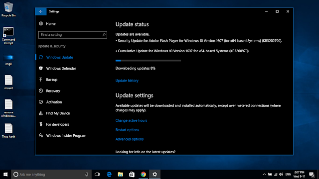 Cumulative update KB3200970 for Windows 10 Version 1607 Build 14393.447