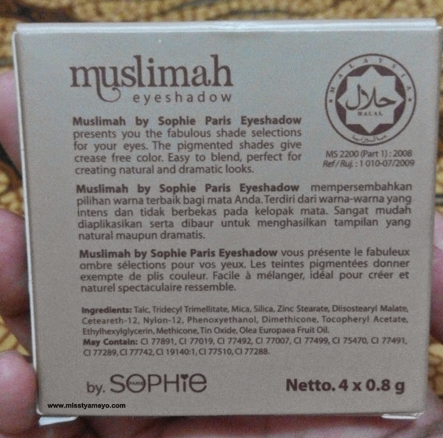 Muslimah by Sophie Paris Eyeshadow Jasper