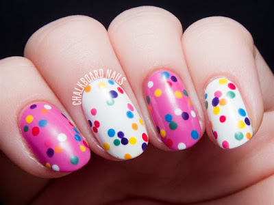 Colorful Dotted Nail Art